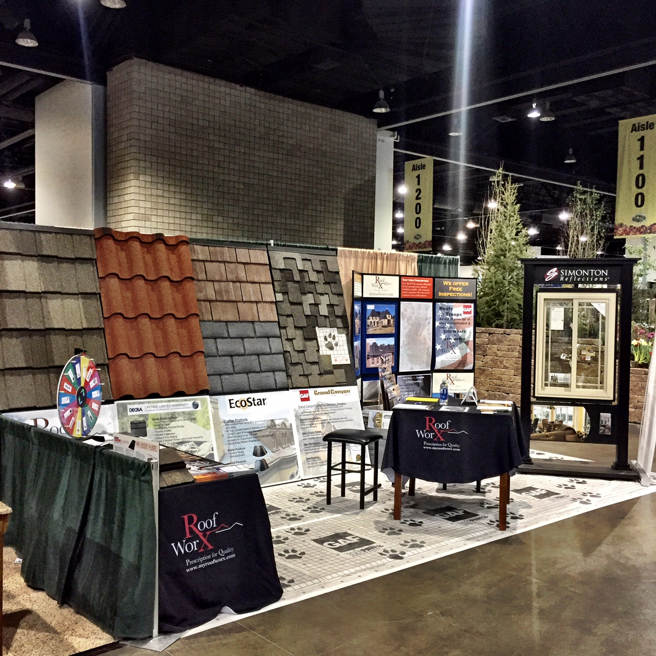 Denver roofing company at colorado home show Colorado home and garden show